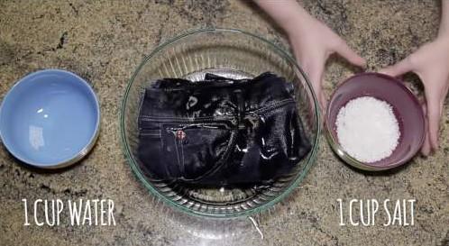 spijkerbroek wassen met zout