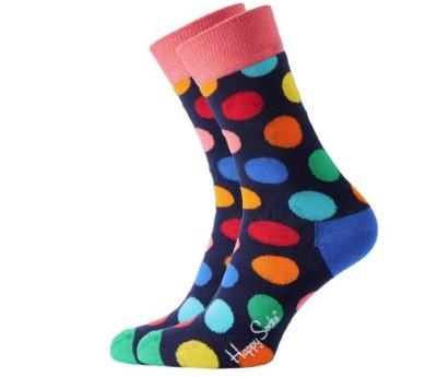 Voorbeeld van een kleurige sok met Nylon van polyamide er in verwerkt