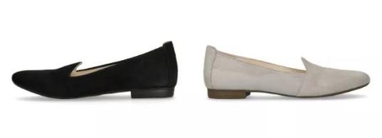 Schoenen onder jurk zonder hak in het wit en zwart
