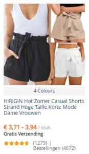 Voorbeelden van Kleding bestellen bij Ali Express - Shorts