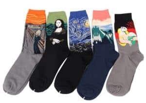 kleurrijke sokken alleen wanneer het kan