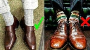 sokken bij een pak of kostuum