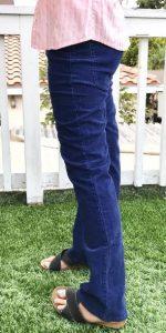 5 zakken broek voorbeeld dames donkerblauw