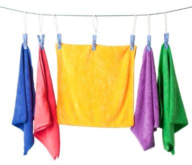 Microvezel handdoek wassen