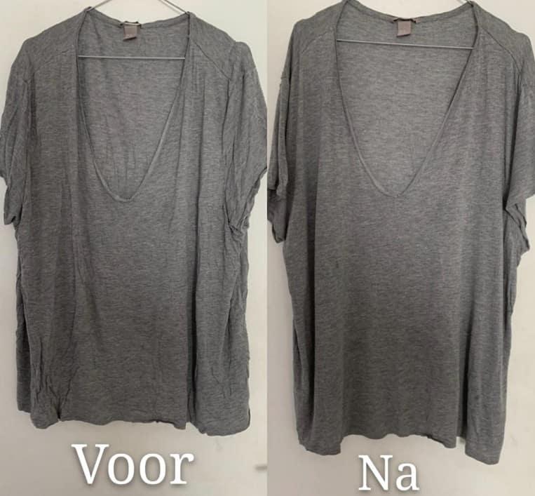 kledingstomer voor en na foto