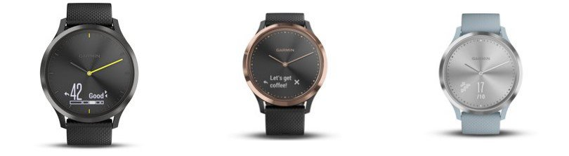 3 modellen horloges op een rij Beste horloges onder 200 euro - Garmin Vivomove