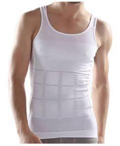 Voorbeeld van een corrigerend wit hemd voor de buik bij heren