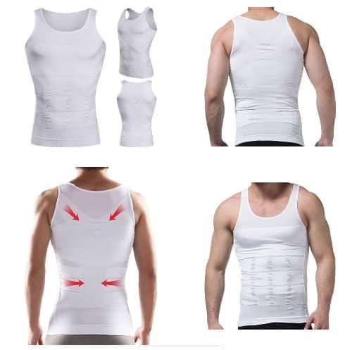 Verschillende voorbeelden van het dragen van een corrigerend hemd voor mannen