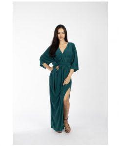 Groene kimono voor tijdens de zwangerschap