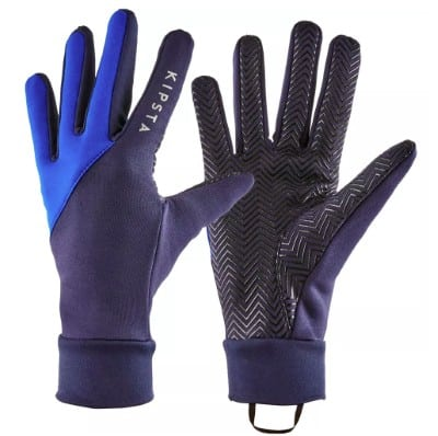 Thermo handschoenen kind en sport in blauw zwart met antislip