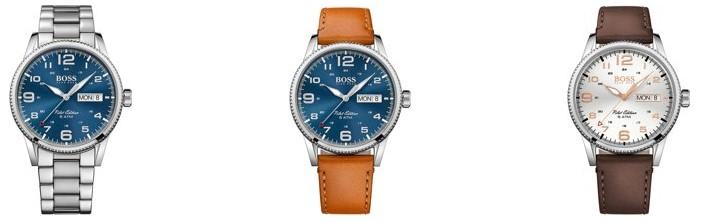 Heren-Beste horloges onder 200 euro - Hugo Boss HB1513333 Pilot Horloge - Leer - Bruin