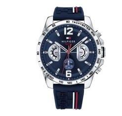 Heren-Beste horloges onder 200 euro - Tommy Hilfiger TH1791476 Horloge - Silliconen - Blauw