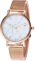 Top 5 horloges onder 50 euro - Fashion Favorite Marble Mesh Rosékleurig