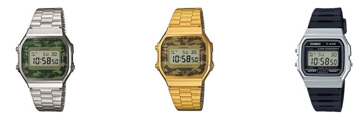 Top 5 horloges onder 50 euro - Heren -Casio A168WEC-3EF - Horloge
