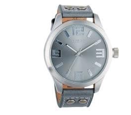 Top 5 horloges onder 50 euro - Heren- OOZOO Timepieces C1060 - Horloge - Leer - Grijs - 46 mm