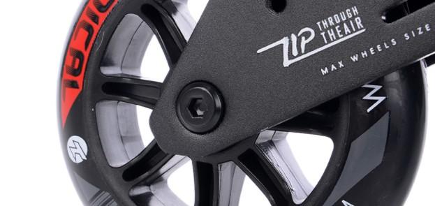 De tempish wenox is voorzien van Abec 9 wiellagers met rubber afdekking
